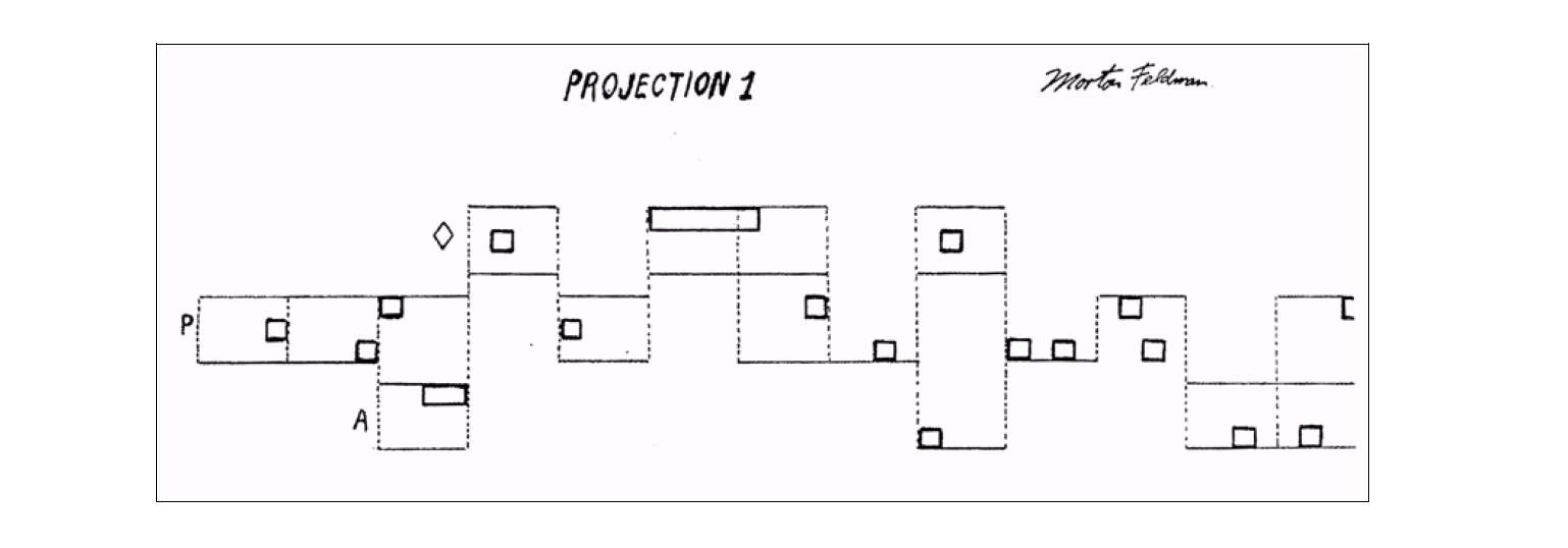 Morton Feldman - Projection 50 graphic score